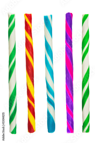 Colorful candy isolated on white