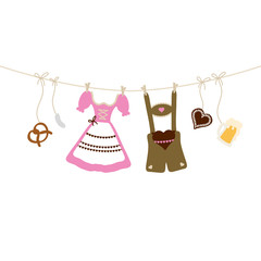 Hanging Octoberfest Symbols Beige