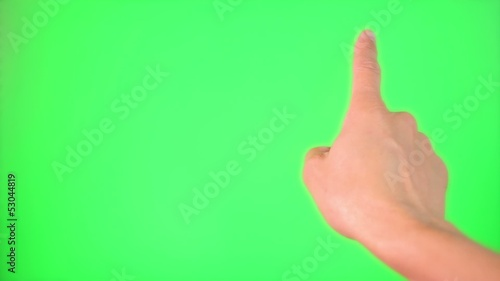 Touchscreen gestures Green Screen for masking