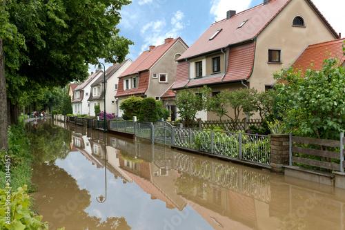 Leinwandbild Motiv Hochwasser