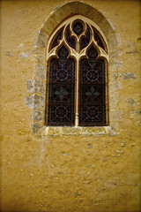 church , window , france , middle age