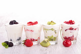 fruits yogurt
