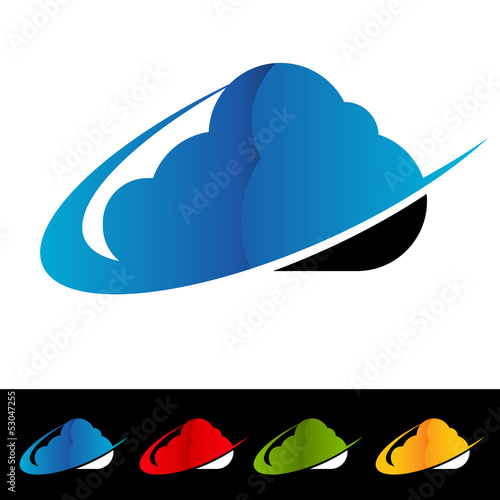 Swoosh Cloud Computing Icons
