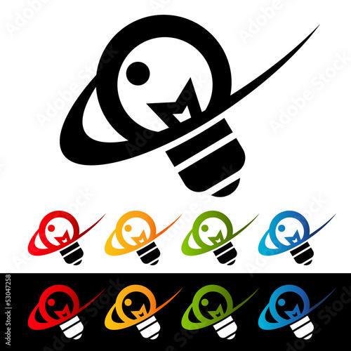 Swoosh Light Bulb Icons
