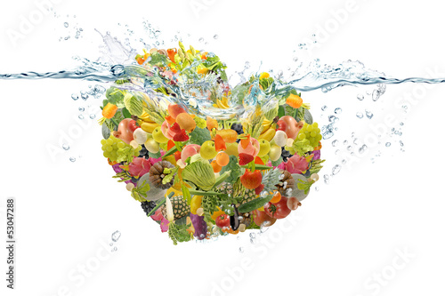 Zdjęcia na płótnie, fototapety na wymiar, obrazy na ścianę : 野菜と果物