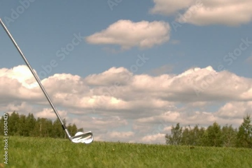 Golf Super Slow Motion Grass lay-up Shot 10000 fps shot 4