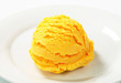Scoop of yellow ice cream