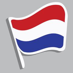 Flagge in Niederländischen Farben