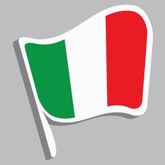 Flagge in italienischen Farben