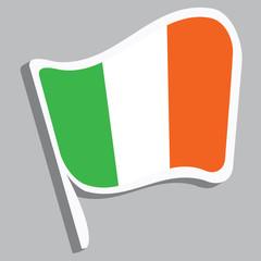 Flagge irischen Farben