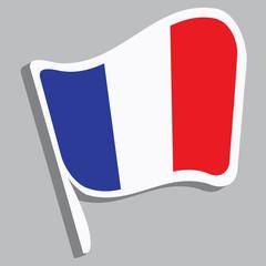 Flagge in französischen Farben