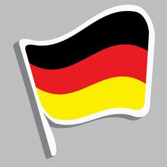 Flagge in deutschen Farben