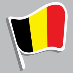 Flagge belgischen Farben