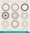 Set of design decorative circle elements