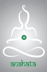 Symbolic yogi with Anahata chakra representation