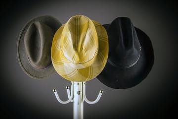 Три мужских шляпы.