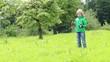 Kind spielt mit Lenkdrachen, Zeitraffer