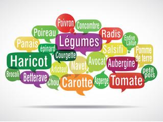 nuage de mots bulles : légumes