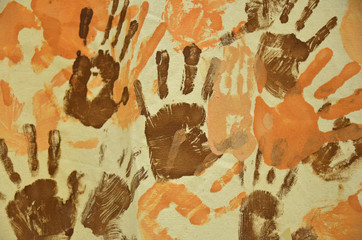 hand print abstract