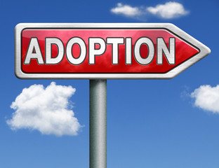 adoption road sign arrow