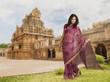 Beautiful Indian girl in traditional Indian sari.