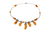 Necklace from natural amber