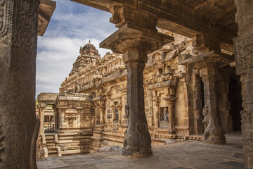 Brihadeeswarar Temple in Thanjavur, Tamil Nadu, India.