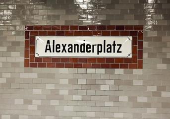 Alexanderplatz Wall Sign