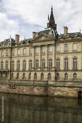 The Rohan Palace of the 18th century in Strasbourg, France