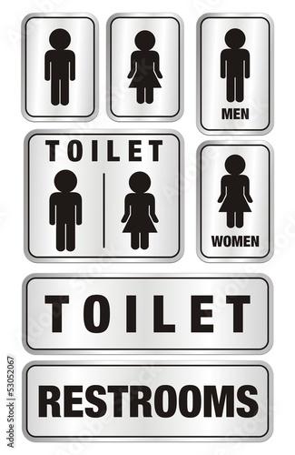 set of toilet signs - aluminium signs