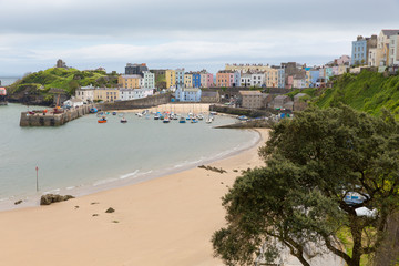 Tenby Pembrokeshire Wales historic Welsh town
