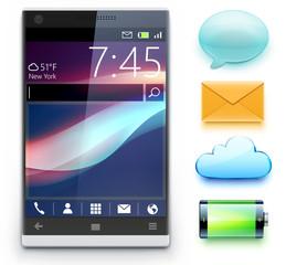 Glossy modern cellphone