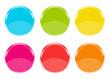 Iconos de colores con forma de círculos