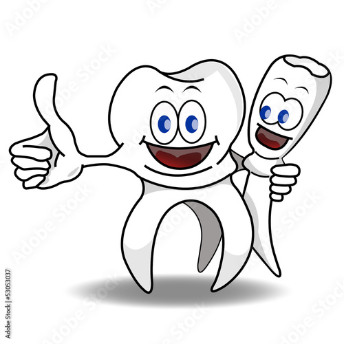 Happy smiling teeth vector