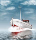 Fischkutter auf See - 53053618