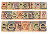 education, research and service