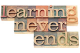 Fototapety learning never ends