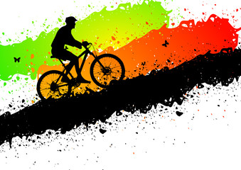 Mountain bike abstract background