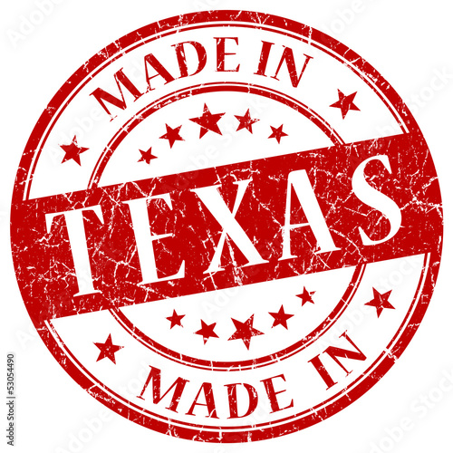 made in texas red stamp