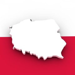 poland flag and scape