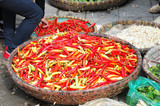 Vietnamese Peppers at a Local Market