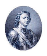 Engraving of Peter I  the Great  Emperor of Russia  1682-1725