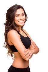 Beautiful fitness woman posing