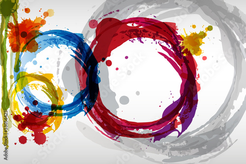 colored blots background