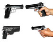 four photos of pistolet