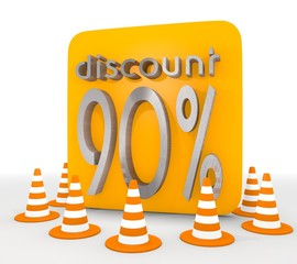 3d graphic of a decorative discount icon