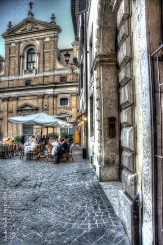 Roma, piazza Capranica, veduta