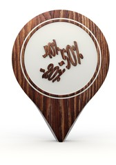 3d render of a natural compass sign on a set of wooden  markers