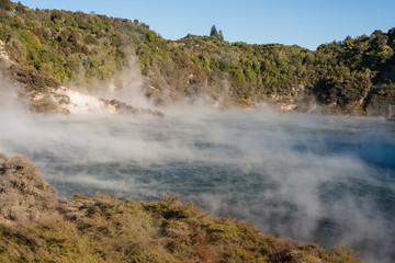 Echo Crater with Frying Pan Lake in Rotorua