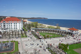 aerial view of famous spa resort at the seaside, Sopot, Poland